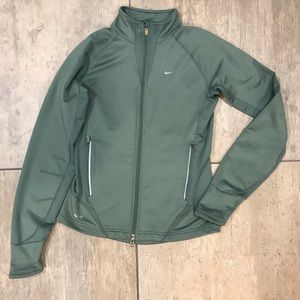 NIKE Teal colored warm running zip up